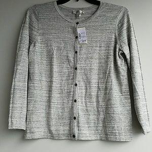 NWT Christopher & Banks   heather grey cardigan